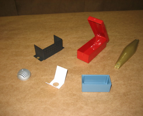 B&B Powder Coating small housing, containers, metal holders